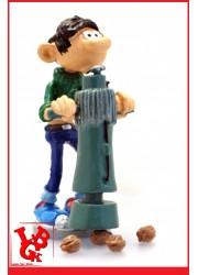 """GASTON LAGAFFE : Statue Les Inventions 3 """"Le casse-noix de chantier"""" par Pixi-plastoy libigeek 3521320065830"""