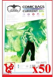 Protection Comics : Lot de 50 protections pour comics format CURRENT BIG Size REFERMABLES libigeek 4260250075784