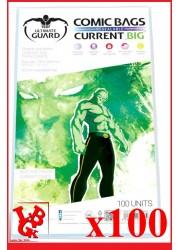 Protection Comics : Lot de 100 protections pour comics format CURRENT BIG Size REFERMABLES libigeek 4260250075784