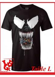 """VENOM BLACK """"L"""" - T-Shirt Marvel taille Large par Cotton Division Tshirt libigeek 3664794047626"""