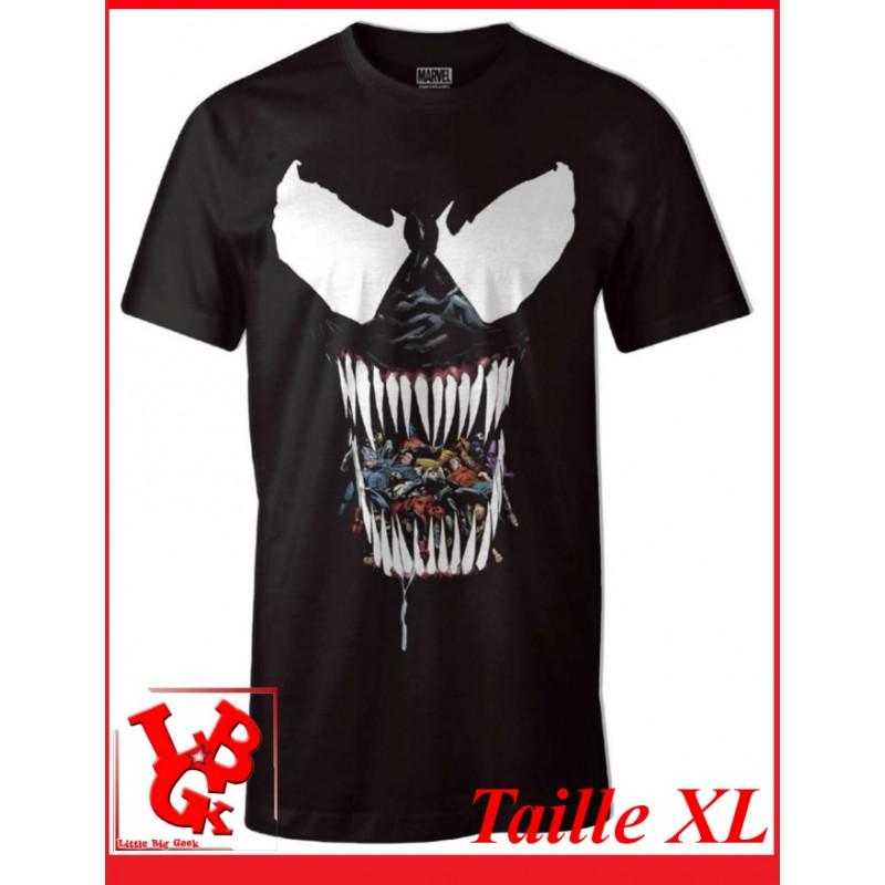 """VENOM BLACK """"XL"""" - T-Shirt Marvel taille X-Large par Cotton Division libigeek 3664794047657"""