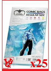 Protection Comics : Lot de 25 protections pour comics format REGULAR Size REFERMABLE libigeek 4260250073834