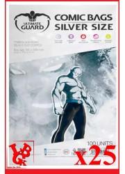 Protection Comics : Lot de 25 protections pour comics format SILVER Size libigeek 4260250071656