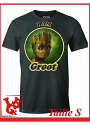 """I AM GROOT """"S"""" - T-Shirt Marvel taille Small par Cotton Division Tshirt libigeek 3664794067891"""