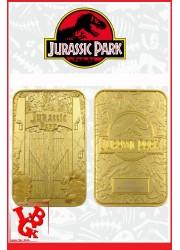 JURASSIC PARK / Réplique Ticket plaqué OR 24 Carats par FaNaTtik libigeek 5060662465291