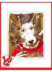 HOODIE DOGGY 2 Print 42x 30 cm OPOIL Print Signé Numéroté signed libigeek 9782809487329