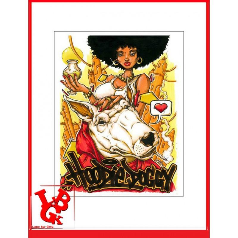 HOODIE DOGGY 10 Print 42x 30 cm OPOIL Print Signé Numéroté signed libigeek 9782809487329