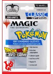 Pochettes Protection Cartes : Lot de 100 format Standard 66x93 (Pokemon, Magic, ...) libigeek 4260250071014