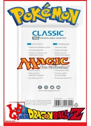 Pochettes Protection Cartes REFERMABLES : Lot de 100 format Standard 66x93 (Pokemon, Magic, ...) libigeek 4056133013222