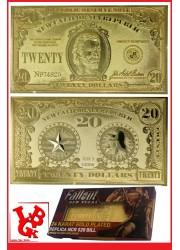 FALLOUT LAS VEGAS Replique 20$ Bill California Plaqué OR 24 Carat par FaNaTtik little big geek 5060662466724 - LiBiGeek
