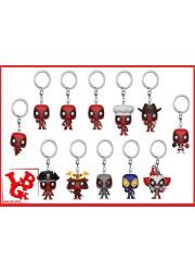 DEADPOOL Clown Porte Clefs mini Pop! par Funko libigeek 889698311441